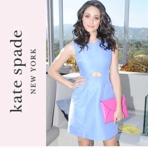 KATE SPADE Saturday Periwinkle Cut-out dress,2!NWT
